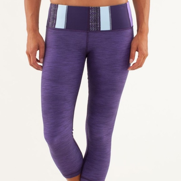 lululemon athletica Pants - Lululemon athletica wunder under crop leggings 4